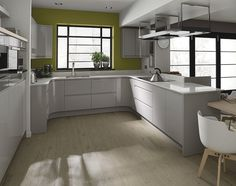 kitchens white grey high gloss - Google Search