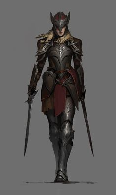 Dungeons And Dragons Characters, Dnd Characters, Fantasy Characters, Female Characters, Female Character Design, Character Concept, Character Art, Female Armor, Female Knight
