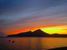 Beautiful sunset in Sant Elm, Mallorca