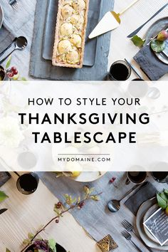 Thanksgiving tablescape inspiration and ideas: