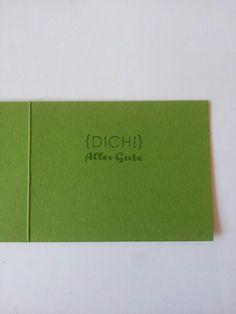 Innenseite der kleinen Klappkarte (Heute feiern wir), Kartenmaß: 6,5 * 8,5 cm
