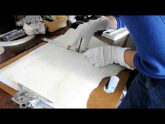 Medieval Manuscript Reproduction, Part 2: Ruling - YouTube