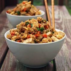 Tofu Fried Rice Recipe. |Re-pinned by www.borabound.com