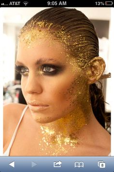 Gold make-up work up to something really extravagant!!!