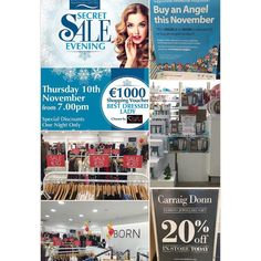 It's impossible to fit all of tonight's offers into one picture but we tried  The #SecretSaleEvening kicks off at 7pm! #WLRFM #waterford #DungarvanShoppingCentre #Dungarvan