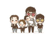 [fanart] #BIGBANG family photo ✨