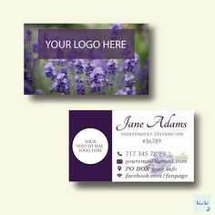 Essential Oils Business Card - Essential Oil Business Card - Custom Business Card Essential oil - lavender essential oil 0080