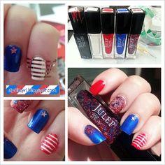 Very Enchanting: Easy Patrioctic Nails!