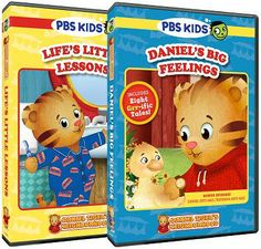"""The brand new Daniel Tiger's Neighborhood DVDs, """"Life's Little Lessons"""" and """"Daniel's Big Feelings"""" are now available!"""