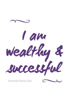 Wealth affirmation I am wealthy & successful Use daily to help improve your money mindset. Printed onto a book in Pink, Lilac or Purple. Ships from the UK to international An extraordanry FREE event featuring 7 World-Renowned Brain Experts, s Prosperity Affirmations, Love Affirmations, Career Affirmations, Positive Thoughts, Positive Vibes, Positive Quotes, Positive Things, Law Of Attraction Money, Law Of Attraction Quotes