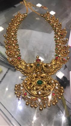 Gold Antique Mango Necklace in 217 Grams, Gold Mango Necklace with Weight Details, Gold Necklace in 217 Grams. Indian Jewellery Design, Indian Jewelry, Jewelry Design, Ethnic Jewelry, Gold Wedding Jewelry, Bridal Jewelry, Gold Jewelry, Antique Jewelry, Antique Necklace