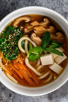 This soup uses an absolutely killer kombu dashi recipe to build up some seriously bold umami vibes. Packed with miso, udon noodles and flavoursome veggies, this is the perfect winter warmer soup! [Collab with School Night Vegan] Udon Noodle Soup, Udon Noodles, Dashi Recipe, Vegan Udon Noodle Recipe, Asian Recipes, Healthy Recipes, Vegan Dishes, International Recipes, Soups