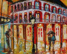 Fine Art Print 16x20 from oil painting by Karen Tarlton - New Orleans French Quarter1