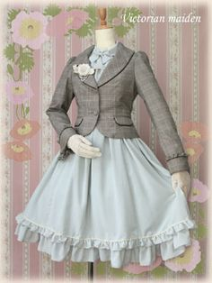 Victorian maiden.  I like the way the jacket makes it a little less Alice in Wonderland.