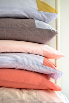 Corinne's Thread: Pillowcases for Every Bed - The Purl Bee - Knitting Crochet Sewing Embroidery Crafts Patterns and Ideas!