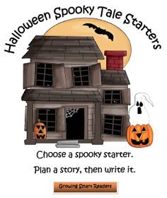 "FREE LANGUAGE ARTS LESSON - ""Halloween Spooky Tales Writing"" - Go to The Best of Teacher Entrepreneurs for this and hundreds of free lessons."