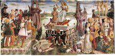 Extrait de la fresque du Palazzo Schifanoia.