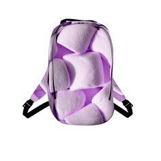 #purplemarshmellows by #chefjenkins, #citrusreport, #backpack #bookbag, #fluffy, #yum, #sugar, #sweet, #candy, #chewy, #foodtshirt #foodclothes #foodprint #alloverfoodprint @Matty Chuah Citrus Report