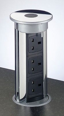Stylish 'Milan' Pop Up Electric Concealed Sockets Kitchen Office Power & Data in Home, Furniture & DIY, Cookware, Dining & Bar, Other Cookware, Dining & Bar   eBay