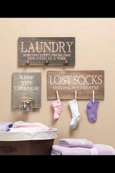 Cute Laundry room idea! by Tyrone