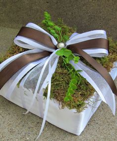 Moss Ring Bearer Pillow for Weddings by justanns on Etsy, $16.00