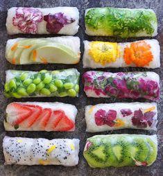 Hooked on summer rolls ☀️🌿  @raw_manda