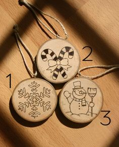 Decorazioni natalizie in legno! #etsysuccess #etsygift #jollygoodcraft