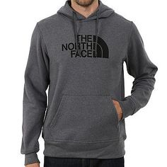 North Face Half Dome Hoodie Mens CH2P-MN8 Grey Black Logo Pullover Hoody Size XL