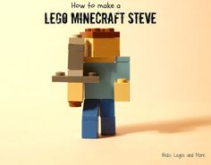 How to make a LEGO Minecraft Steve from brickslegosandmore.blogspot.com