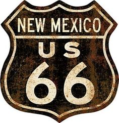 Past Time Signs Retro Planet Route 66 Rusty Street Signs Metal Art