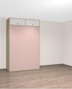 armoire lit escamotable horizontale 90 x 190 avec bureau teo maisons idees a retenir. Black Bedroom Furniture Sets. Home Design Ideas