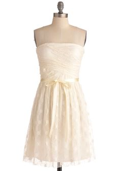Coconut Cream Pie Dress. The bake sale booth has never been so sweet as when you wear this cream number. #cream #wedding #modcloth
