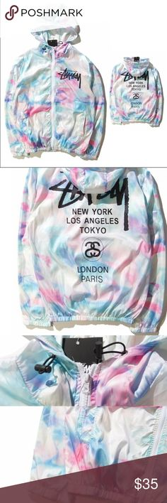Wind breaker Beautiful tie dye wind breaker for men and women! Comes brand new with tags makes a great jacket and is great in the rain Nike Jackets & Coats
