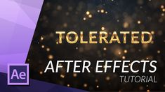 CREATE AN AMAZING GOLDEN INTRO IN AFTER EFFECTS - http://tutorials411.com/2016/12/09/create-amazing-golden-intro-effects/