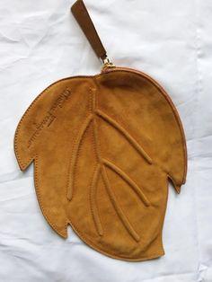 SALVATORE FERRAGAMO Vintage Suede Clutch Purse / Bag Leaf Shape in Clothes, Shoes & Accessories, Women's Handbags | eBay