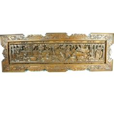 Farmers Gathering Carved Relief Panel | Overstock.com