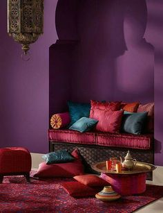 Morrocan style This color purple for the little bedroom
