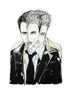 Limited Edition Canvas Art Print  'Me VS Tyler'  Fight Club - A3 Carly Dirie, via Etsy.