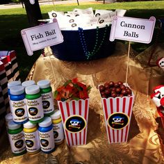 Pirate Birthday Party - Treat Table