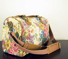 Floral Print Tapestry Duffle Uncovet