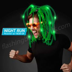 Flashing Blinky Bouncy Noodle Headbands! So fun @ Night Runs AND the pub on St. Patrick's Day night.