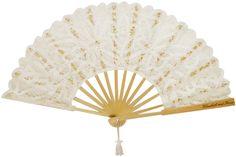 Abanico Flamenco Ivory encaje y madera personalizado. Conoce mas modelos en:  www.recuerdos.com.mx Hand Fan, Home Appliances, Wedding, Templates, Flamingo, Memories, Lace, Products, Bodas