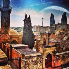 "Azerbaijan. Baku ""Old City""❤️"