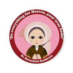 Do everything for Heaven, you true home. Bernadette Soubirous Saw a vision of Mother Mary. Lourdes, France Patron to sick persons. Christian Love, Christian Memes, Catholic Saints, Patron Saints, Catholic School, Santa Bernadette, St Bernadette Soubirous, Jesse Tree Ornaments, Our Lady Of Lourdes