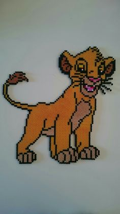 Perler, beads - Simba, Lion King, Disney