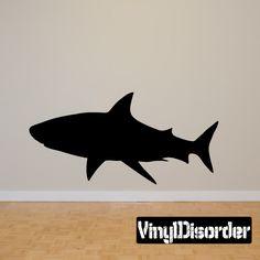 Shark Wall Decal - Vinyl Decal - Car Decal - 007
