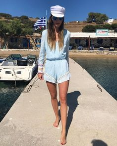 Greek sailor rocking Bless The Mes juicy playsuit