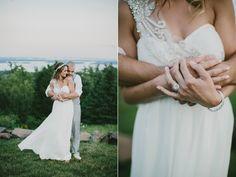 wedding portrait - photo by Emily Delamater http://ruffledblog.com/romantic-maine-wedding-with-glitzy-details