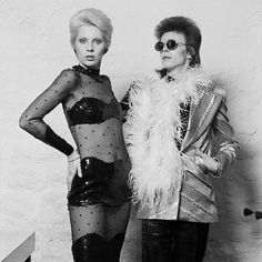 """berlin-1976: """"David and Angie Bowie, 1973 © Terry O'Neill 