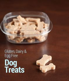 Gluten, Dairy and Egg Free Dog Treats